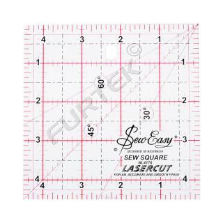 Линейка для пэчворка Hemline квадратная Sew Easy, градация в дюймах, 4 ½, 6 ½, 9 ½, 12 ½