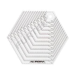 """Линейка для пэчворка Aurora """"Шестиугольник"""" AU-H14"""