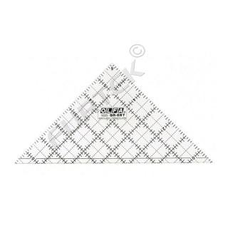 """Линейка-треугольник для пэчворка Frosted, градация в дюймах, Olfa, размер 6"""""""