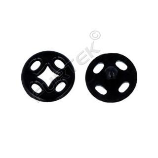 Кнопки для одежды пришивные, цвет чёрный, белый, прозрачный, материал пластик