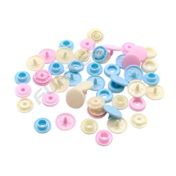 Пластиковые кнопки Color Snaps Prym диаметр 12,4 мм, в упаковке 30 шт