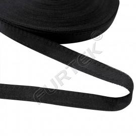Тесьма брючная полиэфирная 15 мм, цвет черный