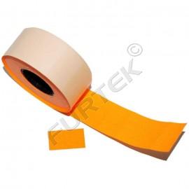 Этикет лента для этикет пистолета 26х16мм, оранжевая прямоугольная