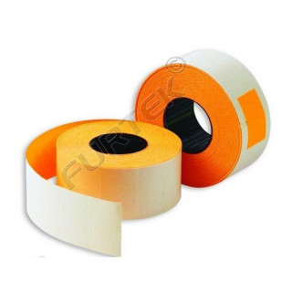 Этикет лента для этикет пистолета 21,5х12мм, оранжевая прямоугольная