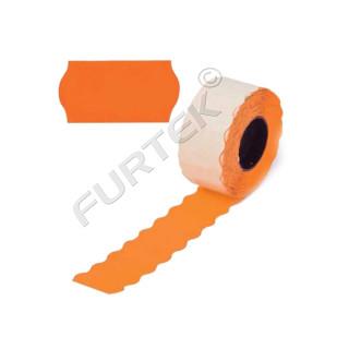 Этикет лента для этикет пистолета 26х12мм, оранжевая волна