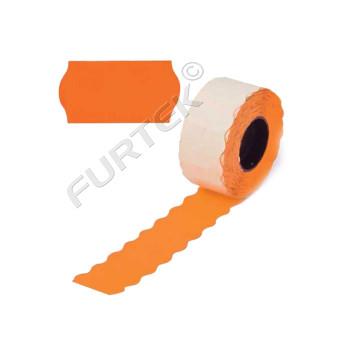 Этикет лента для этикет пистолета «Эконом» оранжевая, волна, 22х12 мм