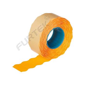 Этикет лента для этикет пистолета 22х12мм, оранжевая волна