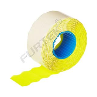 Этикет лента для этикет пистолета 26х16мм, желтая волна