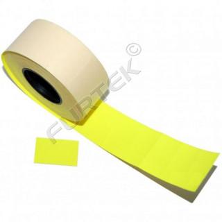 Этикет лента для этикет пистолета 26х16мм, желтая прямоугольная