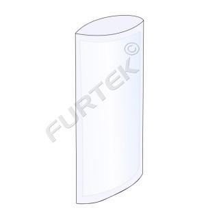 Полиэтиленовый прозрачный пакет под запайку 8х32 см