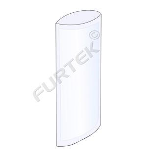 Прозрачный пакет под запайку 8х35 см