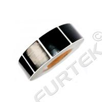 Черная радиочастотная защитная этикетка 4х4 см