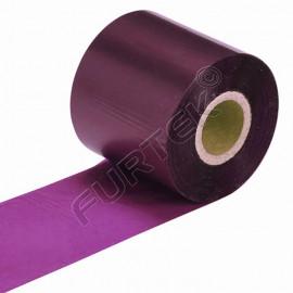 Фиолетовые риббоны для термотрансферного принтера UN020VT на основе воска
