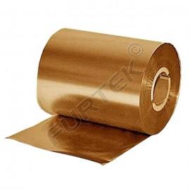 Металлизованный золотой риббон для принтера на основе смолы Resin 74 м