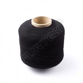 Нитки эластичные спандекс промышленные черные, 0,6 мм, 2500 м в намотке