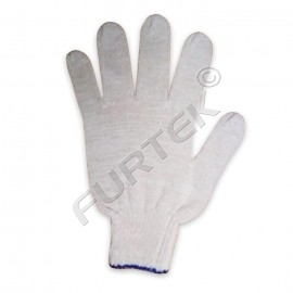 Перчатки ХБ 4-х нитка без ПВХ 10 класс белые