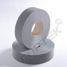 Текстильная светоотражающая лента серого цвета 20 мм, 100 м