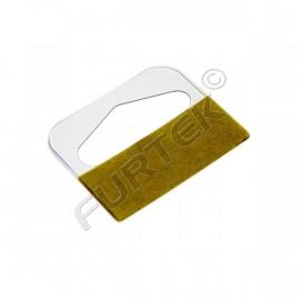 Прозрачные самоклеющиеся вешалки еврослоты толщиной 0,3 мм