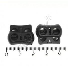 Фиксатор пластик 104-Х для двух шнуров (уп 100, 250 шт)