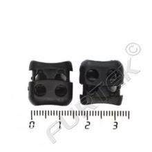 Фиксатор пластик 105Т для двух шнуров (уп 100 шт)