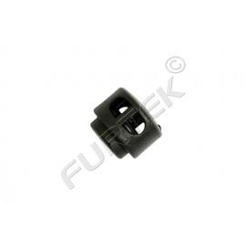 Фиксатор пластик 27001 СМ для двух шнуров (шнур 3 мм) (уп 500 шт)