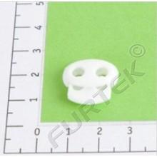 Фиксатор пластик Z38-18 для двух шнуров (шнур 3 мм) (уп 500 шт)