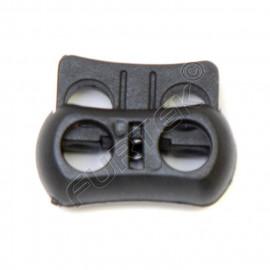 Фиксатор пластик Z38-22 для двух шнуров (уп 100, 500 шт)