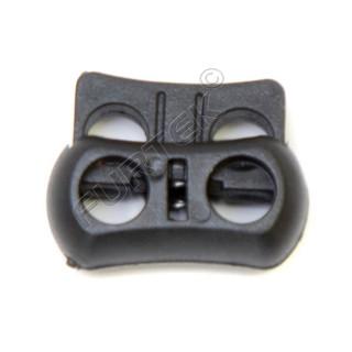 Фиксатор для двух шнуров пластиковый Z38-22 (уп 100, 500 шт)
