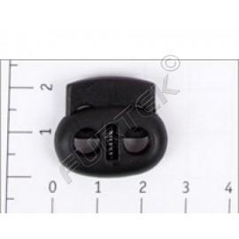 Фиксатор пластик Z42-1 для двух шнуров (уп 500 шт)