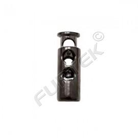 Фиксатор цилиндр для двух шнуров (уп 500 шт)