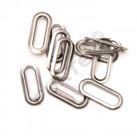 Люверсы металлические овальные 18х6 мм, в упаковке 1000 штук