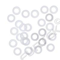 Пластиковые кольца под люверс 8 мм, 9 мм, 12 мм