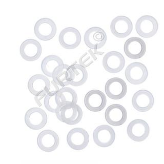 Пластиковые кольца под люверс 3 мм, 4 мм, 5 мм, 6 мм усилители