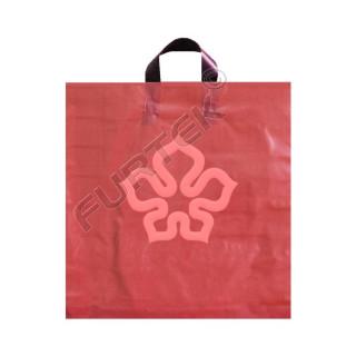 Пакеты ПВД с логотипом с петлевой ручкой без дополнительного укрепления и с донной складкой