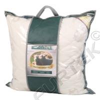 Упаковка для подушек с окошком из ПВХ-материала или спанбонда