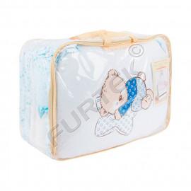 Упаковка ПВХ для комплекта детского постельного белья с бортиками