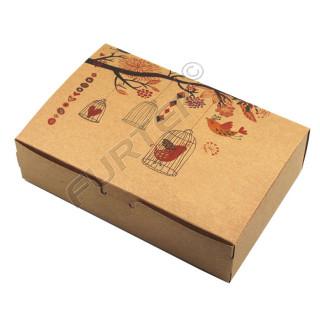 Коробка с крышкой-клапаном наверху