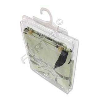 Объемный пакет из ПВХ с вешалкой и клапаном 130х40х125 мм