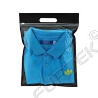 Сумочка с вырубной ручкой и застежкой zip-lock для рубашек и трикотажа