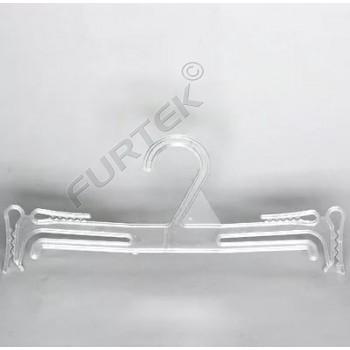Тонкая прозрачная пластиковая вешалка для бельевых комплектов и купальников 240 мм