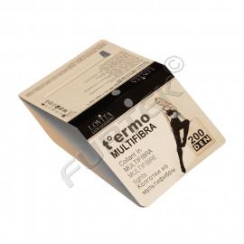 Картонная вставка-вкладыш в прозрачный пакет для колготок
