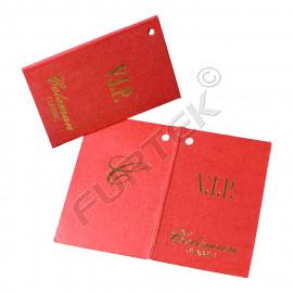 Картонные бирки 70х90 мм для VIP подарков с отверстием