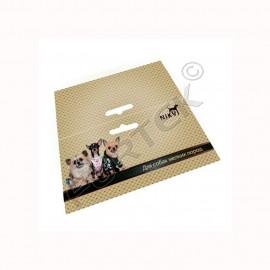 Картонная бирка-хедер 140х140 мм для товаров для животных