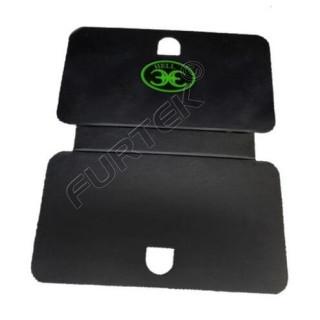 Картонные бирки 95х118 мм для ювелирных изделий со скругленными углами и фигурной вырубкой