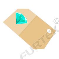 Картонные бирки 30х20 мм с фигурной вырубкой и сверлением отверстия для ювелирных изделий