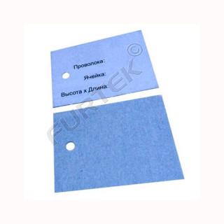 Картонные бирки 52х36 мм для прокатной продукции с отверстием