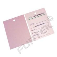 Картонные бирки 70х98 мм для продукции из металла со сверлением отверстия