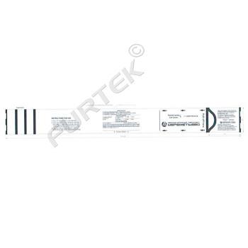 Багажная бумажная бирка 50,8х508 мм на самоклеящейся основе