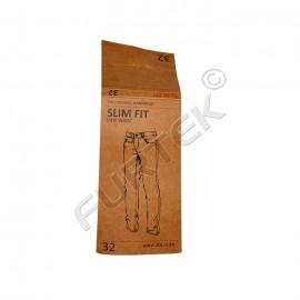 Бирка из крафт-бумаги со сгибами для джинсов 145х45 мм