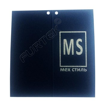 Бирка-книжечка для верхней одежды и меховых изделий 95х100 мм